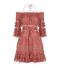 de3568c09fe8 Shop the Zimmermann Corsair Cotton Frilled Mini Dress at Harrods. Shop  online at harrods.
