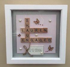 BOX FRAME SCRABBLE LETTERS VALENTINE FAMILY WEDDING ANNIVERSARY ENGAGEMENT GIFT