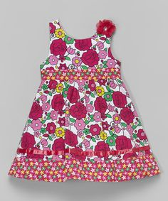 Look at this Sophie Fae Pink & Yellow Floral Dress - Infant, Toddler & Girls on #zulily today!