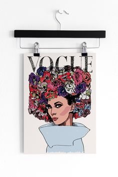 A new addition to our collection of fashion prints. Interior Walls, Interior Design, Vintage Vogue Covers, Wall Decor, Wall Art, Fashion Prints, Decor Styles, Etsy Seller, Objects