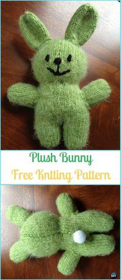 Amigurumi Plush Bunny Free Knitting Pattern - Amigurumi Knit Bunny Toy Softies Free Patterns