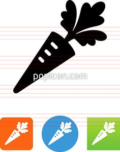 Carrot Vegetable Icon - Illustration from Popicon