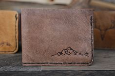 Bifold Mountain Wallet by Willow Creek Leather Co.