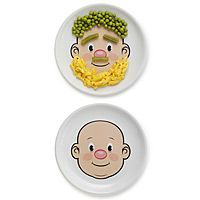 Not sure if the would discourage my munchkin from playing with his food! It's super cute though! Toddler Plates, Kids Plates, Picky Eaters, Food Kids, Fun Food, Food Art, Toddler Meals, Kids Meals, Silly Faces