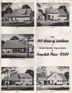 """""""The 1951 House of Levittown Television Equipped Complete Price - $8500.00"""" #vintageads #Ads #vintage #PrintAd #tvads #advertising #BrandScience #influence #online #Facebook #submissions #marketing #advertising"""