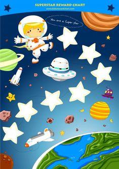 Superstar reward chart Digital Art  - Superstar reward chart Fine Art Print