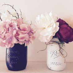 my diy painted Mason jars