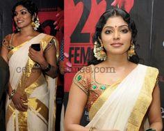 Rima Kallingal Kerala Traditional Saree