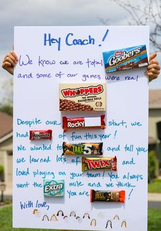 diy ideas How to Make a Candy Bar Card (Coach Gift Idea) - My Frugal Adventures Softball Coach Gifts, Volleyball Team Gifts, Cheer Coach Gifts, Cheer Gifts, Basketball Gifts, Coaching Volleyball, Cheerleading, Gifts For Cheer Coaches, Gifts For Cheerleaders