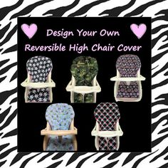 Design Your Reversible High Chair Cover Replacement.