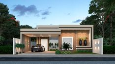 Bungalow House Design, House Front Design, Small House Design, Modern House Design, Small House Exteriors, Modern House Facades, Modern Architecture, Single Storey House Plans, Independent House