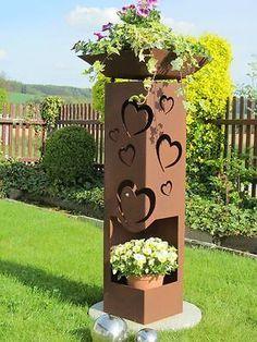 Edelrost Rostblumen 30cm Blume Tulpe Flora Gartendeko Metall Rost Gartenstecker