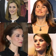 Doña Letizia fishied her look with a stunning pair of De Grisogono black diamond teardrop earrings which date back to 2006.