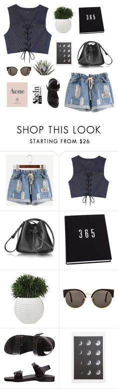 """Untitled #710"" by keziakaligis ❤ liked on Polyvore featuring E L L E R Y, 3.1 Phillip Lim, RetroSuperFuture, Prada, American Apparel and shein"