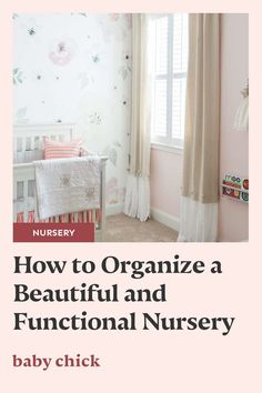 You probably want your nursery to look just as cute as your baby! Here are some tips for a functional, well-organized, and beautiful nursery. #babynursery #nursery #functionalnursery #nurserydesign Labor Nurse, Pregnancy Stages, Baby Chicks, Breastfeeding Tips, Traveling With Baby, Nursery Neutral, Nursery Design, Baby Boy Nurseries, Girl Nursery
