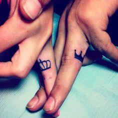 Cute Finger Couple Tattoos