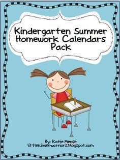 Little Warriors: Summer Homework Calendars Pack