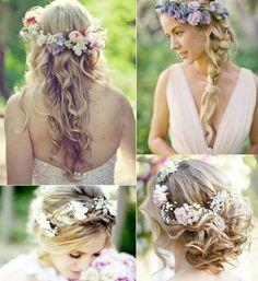 bohemian bride hair