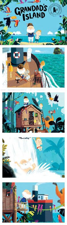 Grandad's Island by Benji Davies Press Kit: