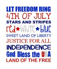 Memorial Day-Fourth of July-Patriotic Activities-Quotes-Crafts Patriotic Images, Staff Gifts, Craft Quotes, Let Freedom Ring, Subway Art, Subway Signs, July Crafts, Happy 4 Of July, Printable Art