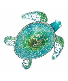 Another great find on #zulily! Mosaic Sea Turtle Wall Décor #zulilyfinds
