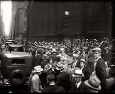 The crowd outside the courthouse hoping to catch a glimpse of Al Capone - 1931