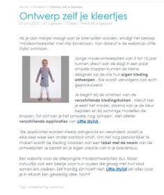www.littlestylist.com: de webshop voor de allerjongste modeontwerpster in Zappybaby.   Meisjeskleding: customize hier je eigen jurk, tuniek of schooltas.