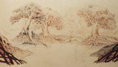 Development work for 'Croc & Bird' by Alexis Deacon