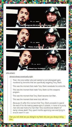Oh my gosh yes!!! That's why Tony always does the peace sign for pictures!
