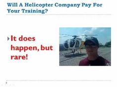 """""""And another big factor is how willing are you to apply yourself? There's a lot of knowledge that goes along with the flying. They flying's 25% of the work. The ground knowledge is 75% of the work."""" - See more at: http://fwhihelicopters.com/cost-commercial-helicopter-pilot/#sthash.ceaIakuW.dpuf"""