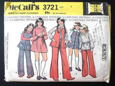 Vintage Sewing Pattern Girls 70's McCalls Dress by Freshandswanky, $4.00