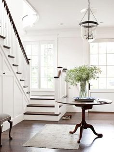 Love the stairs        Traditional White Decorating Ideas - White Home Decorating Ideas - Country Living