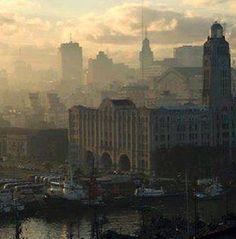 Montevideo - Puerto y Edificio de Aduanas - Port and Customs Building