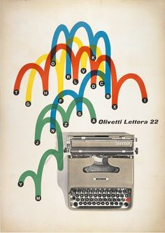 olivetti poster by giovanni pintori, 1962
