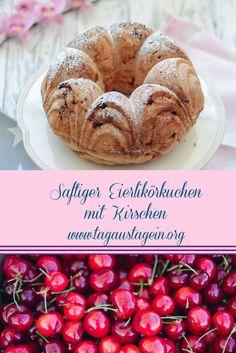 Rezept Eierlikör-Gugelhupf mit Kirschen, backen, Thermomix
