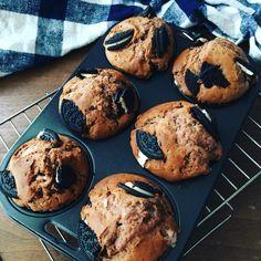 oreo chocolate muffin