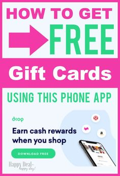 How To Get Free Gift Cards Using The Drop Cash Back App - No Loyalty Cards Needed! #freegiftcards #amazongiftcards #cashback #moneymakingapps Free Gift Cards, Free Gifts, Setting Up A Budget, Loyalty Cards, Frugal Tips, Money Management, Saving Money, Budgeting