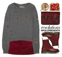 """""""#PolyPresents: New Year's Resolutions"""" by fashiondiaryy ❤ liked on Polyvore featuring Marc Jacobs, Dr. Martens and The Cambridge Satchel Company"""