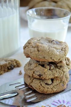 Buckwheat Chocolate Chip Cookies - The View from Great Island