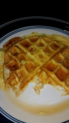 """Low Carb Cream Cheese waffle! """"I truly love this low carb recipe.  It does have somewhat of an egg-like texture but it's a good alternative to higher carb pancakes.""""  @allthecooks #recipe #breakfast #low-carb #dessert #easy #side"""