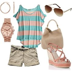 summer casual, created by holly-hansel-garrish on Polyvore by dina