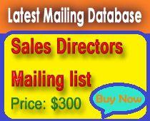 Latest sales directors mailing lists for you.http://profile.hatena.ne.jp/LatestDatabase/profile