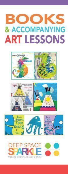 Books and accompanying art lessons - Art Education Kindergarten Art Lessons, Art Lessons Elementary, Kids Art Lessons, Homeschool Kindergarten, Art Books For Kids, Art For Kids, Art Children, Art Montessori, Classe D'art