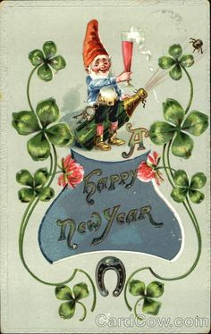 Wishing all of you our sweet Lucky Junkers a very LUCKY 2019 We cant wait to see you! OPEN SHOP [winter sale] thursday jan 3 friday jan 4 saturday jan 5 Lucky Junk l 600 S Northwest Highway Barrington IL Vintage Cards, Vintage Postcards, Vintage Happy New Year, Vintage Holiday, Hello January, December Daily, New Year Postcard, Flea Market Style, New Year Card