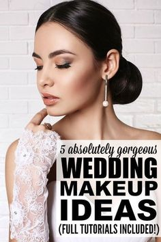Whether you're looking for wedding makeup tutorials for brown eyes, blue eyes, or green eyes, for blondes or for brunettes, for summer, fall, winter, or spring, this collection of DIY wedding makeup tutorials is a great place to start. It includes ideas for so many different looks - natural, romantic, vintage, etc. - so you can look your best on your special day. Full tutorials and product recommendations included!