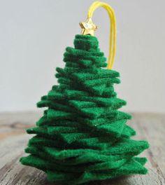 Saiba já passo a passo como fazer uma mini árvore de Natal de feltro