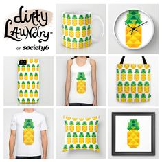 summer trend 2014: pineapple   Get the Dirty Laundry geometric pineapple on Society 6.    #pineapple #trend #summer