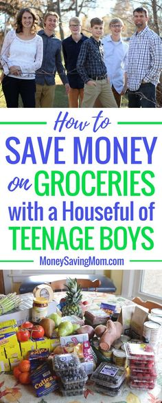 How to Save Money on Groceries with a Houseful of Teenage Boys! This post is SO helpful and full of great savings tips -- especially if you have a large family with growing boys! Grocery Savings Tips, Budget Meal Planning, Money Saving Mom, Save Money On Groceries, Frugal Meals, Budget Dinners, Freezer Meals, Frugal Living Tips, Afternoon Snacks
