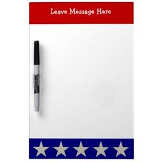 Red White and Blue Patriotic Dry-Erase Whiteboards ....... http://www.zazzle.com/red_white_and_blue_patriotic_dry_erase_whiteboards-256221400358274598?rf=238631258595245556