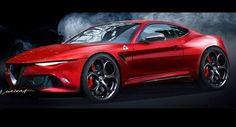 Alfa Romeo Coupe Rendering Is One Hot Ride